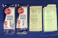 GENUINE HOOVER VACUUM CLEANER BAGS TYPE C 4010003C 14 BAGS TOTAL SEE PHOTOS