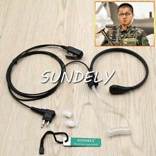 Earpiece Throat Mic/Headset Motorola Radio Walkie Talkie GP350 SP10 SP21 SP50