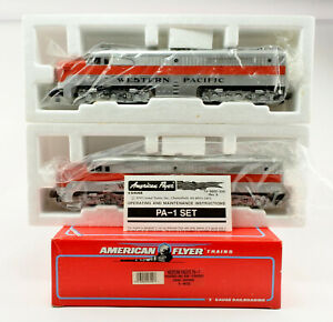 AMERICAN FLYER S SCALE 48120 WESTERN PACIFIC PA-1 POWERED & DUMMY DIESEL SET