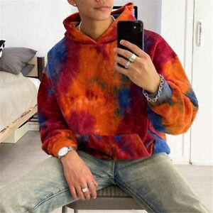 Mens Fleece Hoodie Fashion Sweater Casual Hooded Coat Hip Hop Sweatshirt