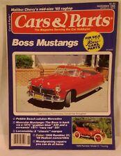 Cars and Parts November 1986 1965 Malibu,1970-1971 Boss Mustings,1949 Hudson