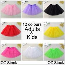 Womens Adults Girls Kids Baby Children Tutu Skirt Party Costume Ballet Dancewear