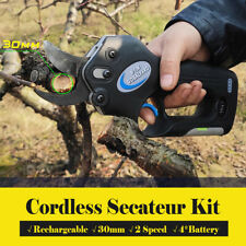 AU Electric Cordless Rechargeable Pruning Shears Secateur Branch Battery Tool δ