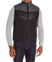 NEW MENS REACTION KENNETH COLE COLORBLOCK PUFFER VEST JACKET $129
