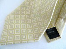 CLAIBORNE Handmade Silk Tie Men's  Gold white diamond Necktie