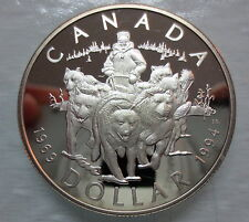 1994 CANADA RCMP DOG TEAM PATROL SILVER DOLLAR HEAVY CAMEO COIN