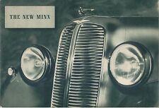 Hillman Minx Saloon, De Luxe, Drophead Coupe Original Sales Brochure circa 1938