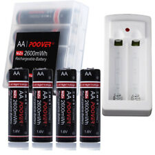 Industrial AA Rechargeable Battery LR6 1.5V Ni-Zn Battery 2600mWh *4+USB Charger