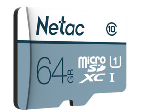 Netac 64GB Micro SD C10 Memory Card for Nintendo Switch & Lite 3D 3DS XL Wii DSi