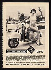 """3w2114/ Alte Reklame von 1960 - ZÜNDAPP """"Bella"""""""