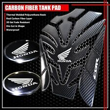 """2.5"""" REFLECTIVE LOGO STICKER DECAL FOR CBR+REAL CARBON FIBER GAS TANK PAD COVER"""