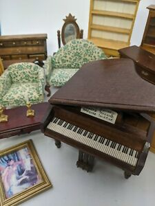 Dollhouse miniatures 1:12 scale wood furniture piano