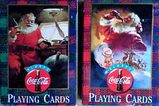 COCA-COLA  - (2) PACKS OF SANTA CLAUS PLAYING CARDS - 1997 - STILL SEALED
