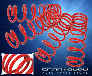 For 88-91 Honda Civic / CRX EF JDM Front Rear Coil Drop Lowering Springs Set Red