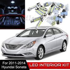 8pcs Interior LED Light Bulbs Package Kit for 2011-2014 Hyundai Sonata White