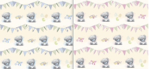 TATTY TEDDY WRAPPING PAPER 2 SHEETS GIFT WRAP BOY GIRL SHOWER NEW ME TO YOU