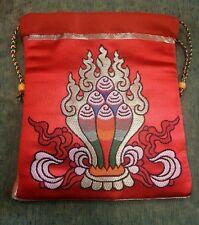 Tibetan high quality silk brocade norbu design Mala Bag /Jewellery Pouches/Nepal