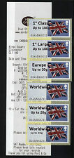 !ERRORS!  FLAGS LARGE FONT - Post and Go GLOUCESTER  COLLECTOR STRIP - 6 RATES