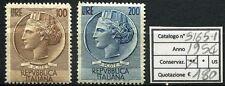 1954 Serie Italia Turrita (grande formato) - 2 valori NUOVI MNH Repubblica S165