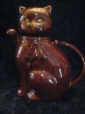 HANDSOME BROWN CAT TEA POT - SO ADORABLE!