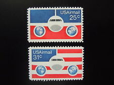 1974 #C89-90 Plane & Globes Singles MNH OG