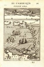 WEST INDIES Caribbean Windward Leeward Islands Barbados Pirates? MALLET 1683 map