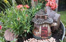 Gartenfigur Rundes Feenhaus Haus Feengarten Fee Elfe Figur Garten