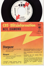 "NEIL DIAMOND - STARGAZER Ultrarare 1976 german 7"" P/S PROMO Single! EX-"