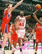 1995 MICHAEL JORDAN Chicago Bulls #45 ACTION SHOT Glossy Photo 8x10 PICTURE WOW!