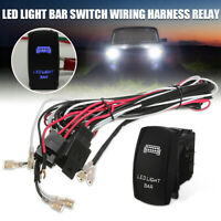 40A 12V LED Light Bar Rocker On/Off Switch Relay Fuse Wiring Harness Loom Kit