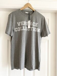 Versace Collection T Shirt Grey Mens NEW With Tags - Medium - Christmas 🎅🏻