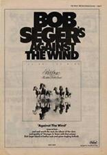 Bob Seger Against The Wind Advert NME Cutting 1980