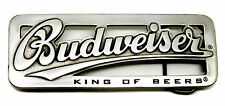Budweiser Belt Buckle King of Beers Silver Cut Out Authentic Officially Licensed