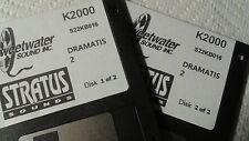 KURZWEIL ~ DRAMATIS 2~ K2XXX/k2000VP/K2500/K2600 w/VAST Programming / 2 Disk Set