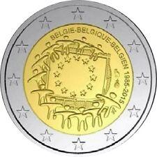 BELGICA 2 EUROS 2015 - 30 AÑOS DE LA BANDERA DE EUROPA  - SIN CIRCULAR -