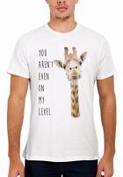 Giraffe Not Even My Level Funny Men Women Vest Tank Top Unisex T Shirt 1524