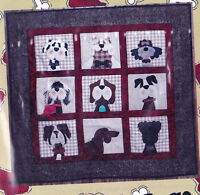 Gone to the Dogs - fun applique & pieced dog wall quilt PATTERN