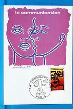 FRANCE CPA   Carte Postale Maximum LA COMMUNICATION    Yt 1884 C