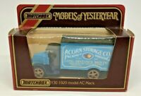 Matchbox Models Of Yesteryear Acorn Storage Co. Y-30 1920 Model AC Mack New