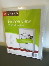 Smead Frame View Poly Two-Pocket Folder, 8-1/2 x 11, Oyster, 5/Pack (Smd87706)