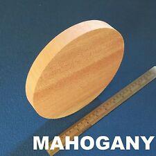 """LOT x 1 CIRCLE 8.0"""" /200 mm WOODEN BLOCKS BUNDLE SET MAHOGANY WOOD NATURAL DISCS"""