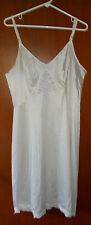 Sears 40 Tall White Full Dress Slip Made in USA The Doesn't Slip
