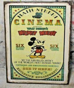 MAIN STREET CINEMA Handmade Disney World vintage sign
