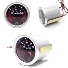 12V LED-Anzeige Turbo Öltemperatur Messgerät Rauch Farbton Objektiv grau Gehäuse