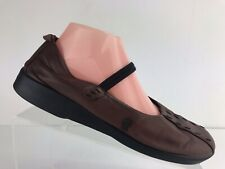 Arcopedico Shawna Brown Leather Mary Jane MJ Casual Flats Shoes Women's 41 US 8