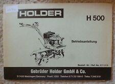 Holder Fräse H500 Betriebsanleitung