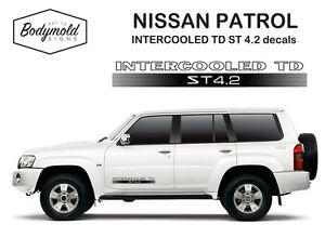 Nissan Patrol INTERCOOLED TD ST 4.2 decals