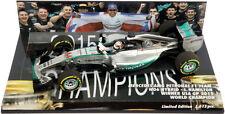 Minichamps Mercedes w06 Austin Usa Gp 2015-Lewis Hamilton World Champion 1/43
