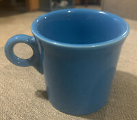 HLC FIESTA WARE BLUE COFFEE CUP/MUG RING HANDLED~PERFECT!