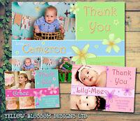 10 Kids Personalised Children Thank You Cards Birthday Christening Boys Girls